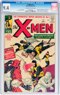 Silver Age (1956-1969):Superhero, X-Men #1 (Marvel, 1963) CGC NM 9.4 Off-white to white pages....