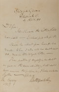 Autographs:U.S. Presidents, Rutherford B. Hayes Autographed Letter Signed....