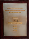Golf Collectibles:Miscellaneous, 1949-52-54 Masters Championship Plaque Presented to Sam Snead. ...