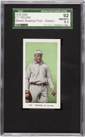 "Baseball Cards:Singles (Pre-1930), 1910 E98 ""Set of 30"" Cy Young, Green SGC 92 NM/MT+ 8.5 - BlackSwamp Find. ..."