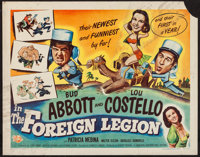 "Abbott and Costello in the Foreign Legion (Universal International, 1950). Half Sheet (22"" X 28"") Style B. Com..."
