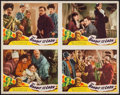 "Movie Posters:Adventure, The Soldier and the Lady (Bell Pictures, R-1945). Uncut Sheet of 4Lobby Cards (22"" X 28""). Adventure. Re-Issued as: The B..."