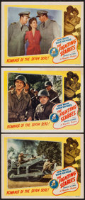 "Movie Posters:War, The Fighting Seabees (Republic, R-1948). Lobby Cards (3) (11"" X14""). War.. ... (Total: 3 Items)"