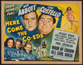 "Movie Posters:Comedy, Here Come the Co-eds (Universal, 1945). Half Sheet (22"" X 28""). Comedy.. ..."
