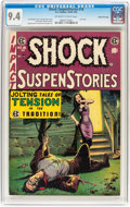 Golden Age (1938-1955):Horror, Shock SuspenStories #18 Gaines File pedigree 2/12 (EC, 1955) CGC NM9.4 Off-white to white pages....