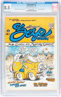 Silver Age (1956-1969):Alternative/Underground, Zap Comix #1 First Printing Light Blue Variant (Apex Novelties,1967) CGC VF+ 8.5 Cream to off-white pages....
