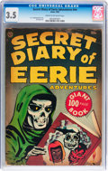 Golden Age (1938-1955):Horror, Secret Diary of Eerie Adventures #nn (Avon, 1953) CGC VG- 3.5 Creamto off-white pages....