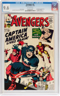 Silver Age (1956-1969):Superhero, The Avengers #4 (Marvel, 1964) CGC NM+ 9.6 Off-white pages....