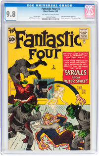 Fantastic Four #2 (Marvel, 1962) CGC NM/MT 9.8 Off-white pages