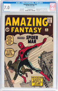 Amazing Fantasy #15 (Marvel, 1962) CGC FN/VF 7.0 Off-white to white pages