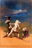 "Featured item image of Frank Frazetta Vampirella #5 Cover Painting ""Cornered"" Original Art (Warren Publishing, 1970)...."
