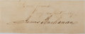Autographs:U.S. Presidents, James Buchanan Clipped Signature....