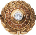 Baseball Collectibles:Others, 1914 Boston Braves World Championship Pin Presented to BertWhaling....
