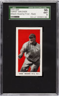 "Baseball Cards:Singles (Pre-1930), 1910 E98 ""Set of 30"" Honus Wagner, Red Background SGC 96 Mint 9from ""The Black Swamp Find.""..."