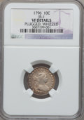 Early Dimes, 1796 10C -- Plugged, Whizzed -- NGC Details. VF. JR-1, R.3....
