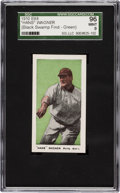"Baseball Cards:Singles (Pre-1930), 1910 E98 ""Set of 30"" Honus Wagner Green Background SGC 96 Mint 9from ""The Black Swamp Find.""..."