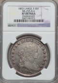 Early Dollars, 1803 $1 Large 3 -- Damaged -- NGC Details. XF. B-6, BB-255, R.2....