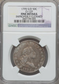 Early Half Dollars, 1795 50C S Over D, 2 Leaves -- Improperly Cleaned -- NGC Details.Fine. O-129, R.4....