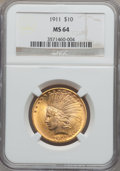 Indian Eagles, 1911 $10 MS64 NGC....