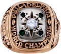 Football Collectibles:Others, 1960 Philadelphia Eagles NFL Championship Ring Presented to Gene Johnson....