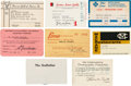 Movie/TV Memorabilia:Documents, A Marlon Brando Group of Membership Cards, 1960s-1970s.... (Total:8 Items)