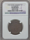 Large Cents, 1793 Chain 1C Periods -- Scratches -- NGC Details. AG. S-4, B-5, R.3....