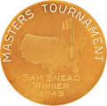Golf Collectibles:Miscellaneous, 1949 Masters Championship Gold Medal Won by Sam Snead....