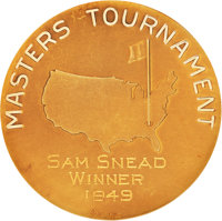 1949 Masters Championship Gold Medal Won by Sam Snead