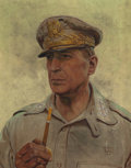 Paintings, HAROLD VON SCHMIDT (American, 1893-1982). General Doug MacArthur, Look Magazine cover, March 20, 1945. Oil on canvas. 23...