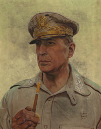 HAROLD VON SCHMIDT (American, 1893-1982) General Doug MacArthur, Look Magazine cover, March 20, 1945