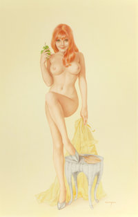 "ALBERTO VARGAS (American, 1896-1982) ""Does This Look Like a Nice Spot For a Picnic, Mr. Morton?"", Playboy Pin-..."