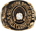 Baseball Collectibles:Others, 1970 Baltimore Orioles World Championship Ring Presented to Harry Dalton....