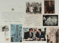 Autographs:U.S. Presidents, Ronald Reagan Photograph and Ephemera Archive, 1963-1988. Sixphotographs, several White House transmittal envelopes and ass...
