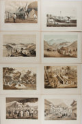 Books:Prints & Leaves, [Perry's Expedition]. Group of 8 Original Tinted Lithographs fromNarrative of the Expedition of an American Squadron to...