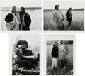 """Movie/TV Memorabilia:Photos, A Marlon Brando Group of Never-Before-Seen Black and White Photographs by Mary Ellen Mark from """"The Missouri Breaks.""""... (Total: 8 Items)"""