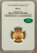 Commemorative Gold: , 1926 $2 1/2 Sesquicentennial MS64 NGC. CAC. NGC Census:(2896/1233). PCGS Population (4351/2098). Mintage: 46,019.Numismed...
