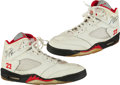 Basketball Collectibles:Others, 1989-90 Michael Jordan Game Worn & Signed Sneakers....