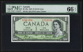 Canadian Currency: , BC-29a $1 1954 Devil's Face. ...