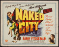 "Movie Posters:Crime, Naked City (Universal International, 1947). Half Sheet (22"" X 28"").Crime.. ..."
