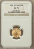 Modern Bullion Coins, 2008-W $5 Tenth-Ounce Gold Eagle MS70 NGC. NGC Census: (0). PCGSPopulation (338). Numismedia Wsl. Price for problem free ...