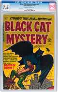 Golden Age (1938-1955):Horror, Black Cat Mystery #41 (Harvey, 1952) CGC VF- 7.5 Off-white to whitepages....