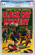 Golden Age (1938-1955):Horror, Black Cat Mystery #43 File Copy (Harvey, 1953) CGC VF+ 8.5 Lighttan to off-white pages....