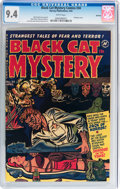 Golden Age (1938-1955):Horror, Black Cat Mystery #34 Spokane pedigree (Harvey, 1952) CGC NM 9.4White pages....