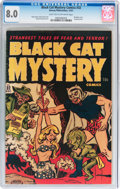 Golden Age (1938-1955):Horror, Black Cat Mystery #32 (Harvey, 1951) CGC VF 8.0 Light tan tooff-white pages....