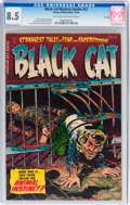 Golden Age (1938-1955):Horror, Black Cat Mystery #52 File Copy (Harvey, 1954) CGC VF+ 8.5 Lighttan to off-white pages....