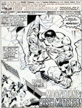 Original Comic Art:Splash Pages, Sal Buscema and Mike Esposito Incredible Hulk #229 SplashPage 1 Original Art (Marvel, 1978)....