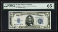 Small Size:Silver Certificates, Fr. 1650* $5 1934 Silver Certificate. PMG Gem Uncirculated 65 EPQ.. ...