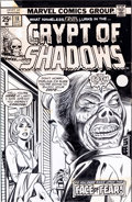 Original Comic Art:Covers, Ron Wilson (attributed) and Vince Colletta Crypt of Shadows#18 Cover Original Art (Marvel, 1975)....