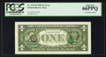 Error Notes:Third Printing on Reverse, Fr. 1913-D $1 1985 Federal Reserve Note. PCGS Gem New 66PPQ.. ...
