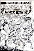 Original Comic Art:Covers, John Romita Sr. and Mike Esposito Daredevil #105 CoverOriginal Art (Marvel, 1973)....